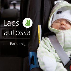 Liikenneturvan Lapsi autossa -esitteen kansikuva