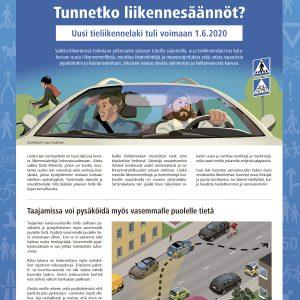 Tunnetko liikennesäännöt? -opas esittelee 1.6.2020 voimaan astuneen tieliikennelain keskeisimmät muutokset.