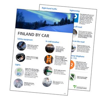 Finland by car -esite kuvana